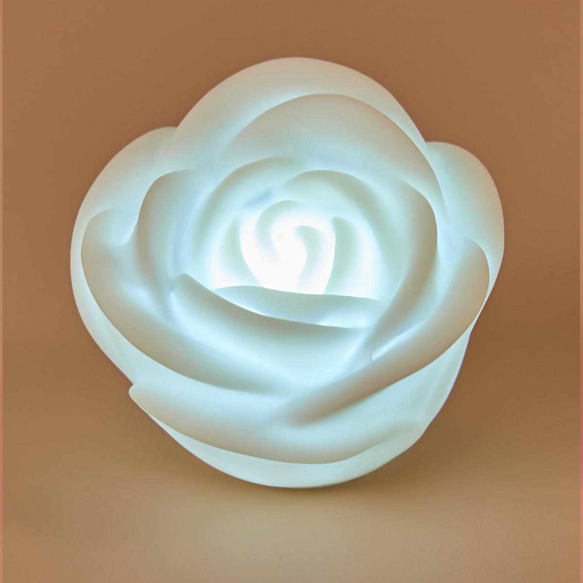 6 piezas lámpara nocturna en forma de rosa