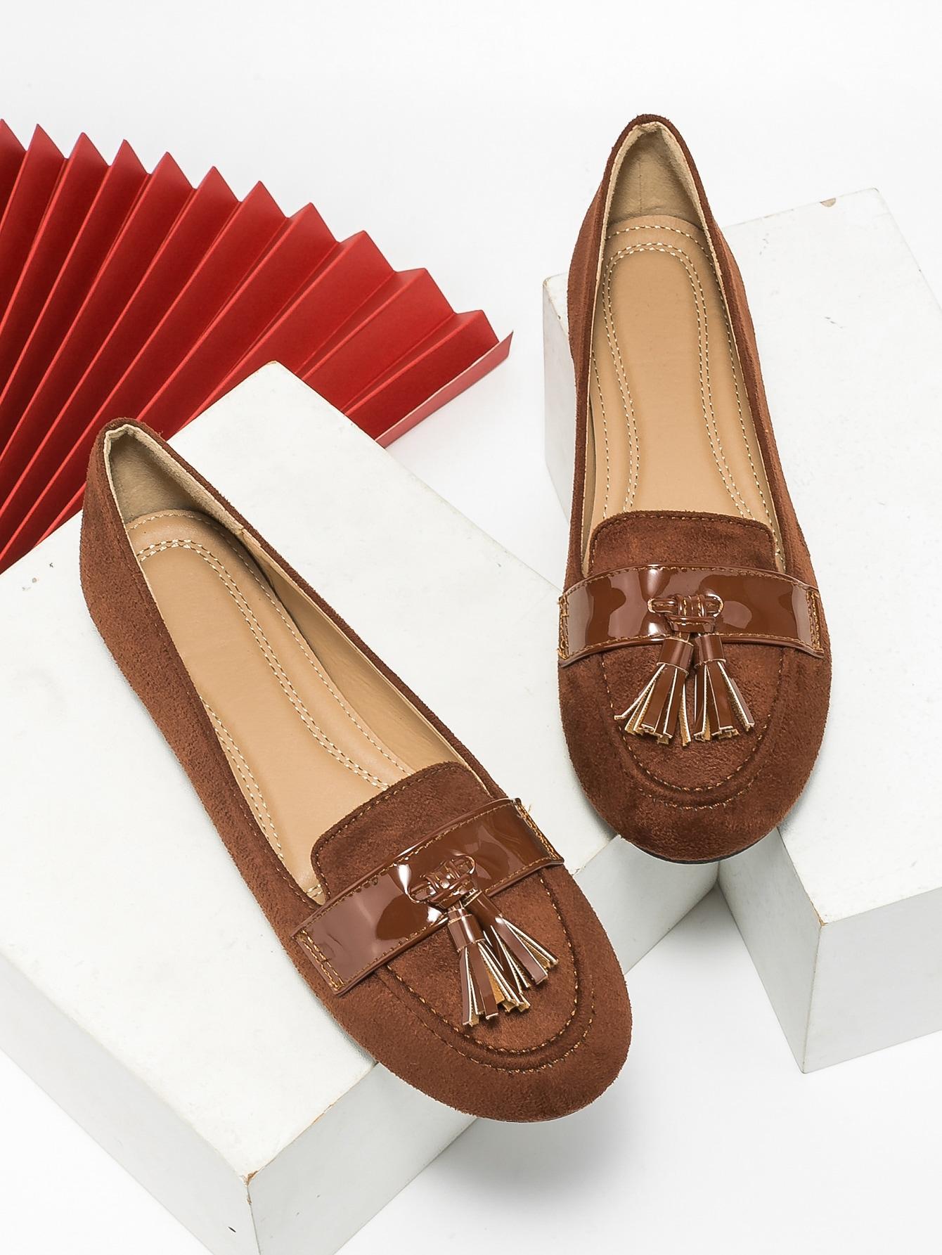Tassel Decor Flat Loafers
