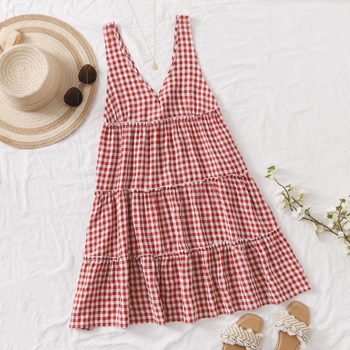 Платье в клетку SheIn swdress25210416539