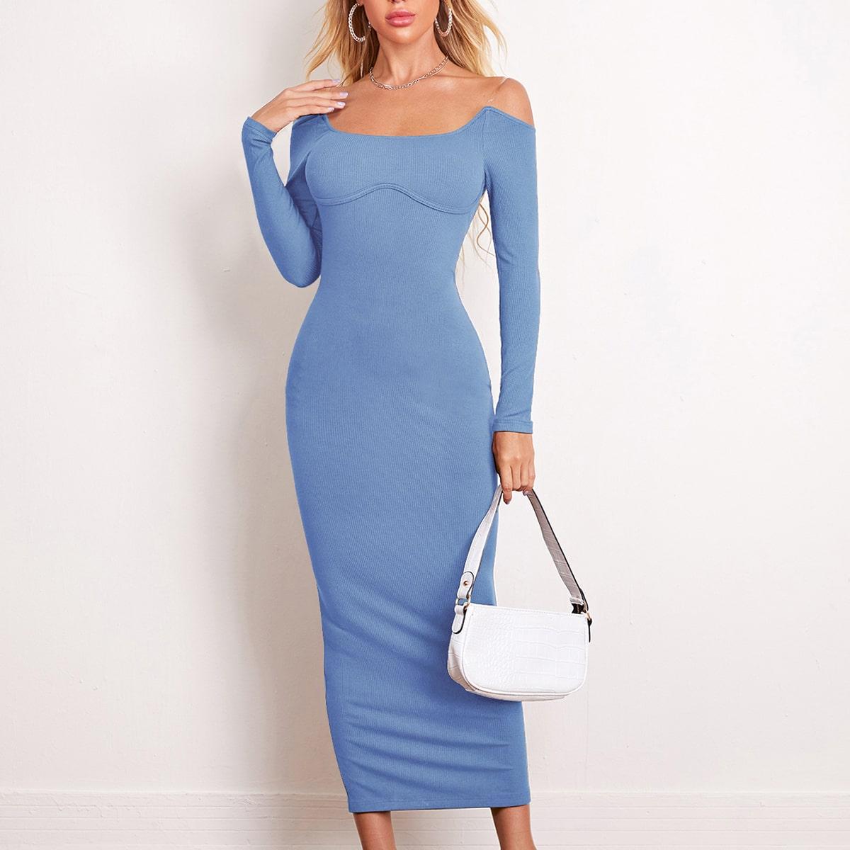Вязаное платье бюстье SheIn swdress07210609048