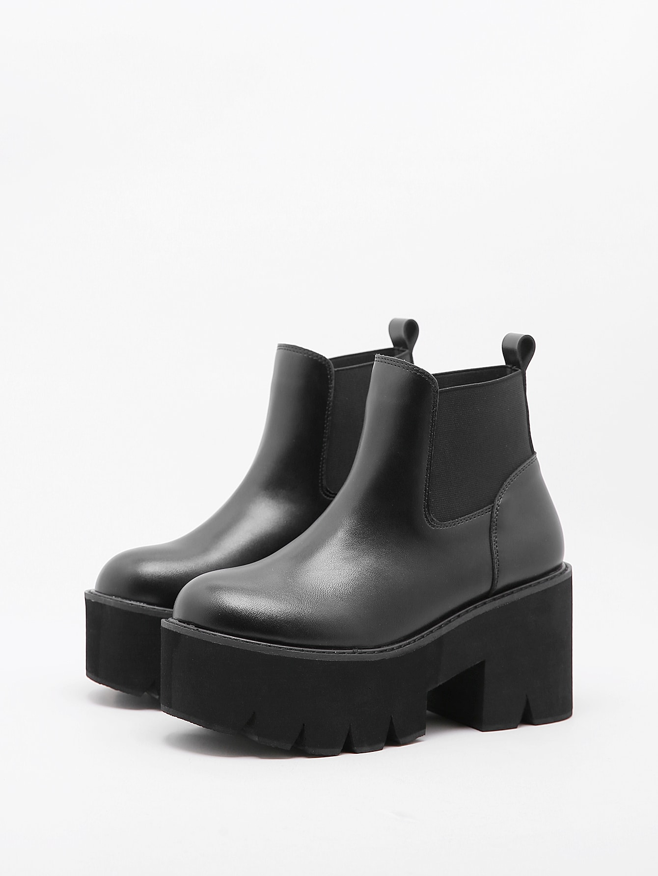 Minimalist Platform Chunky Heeled Chelsea Boots