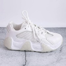 Lace Up Front Mesh Chunky Sneakers