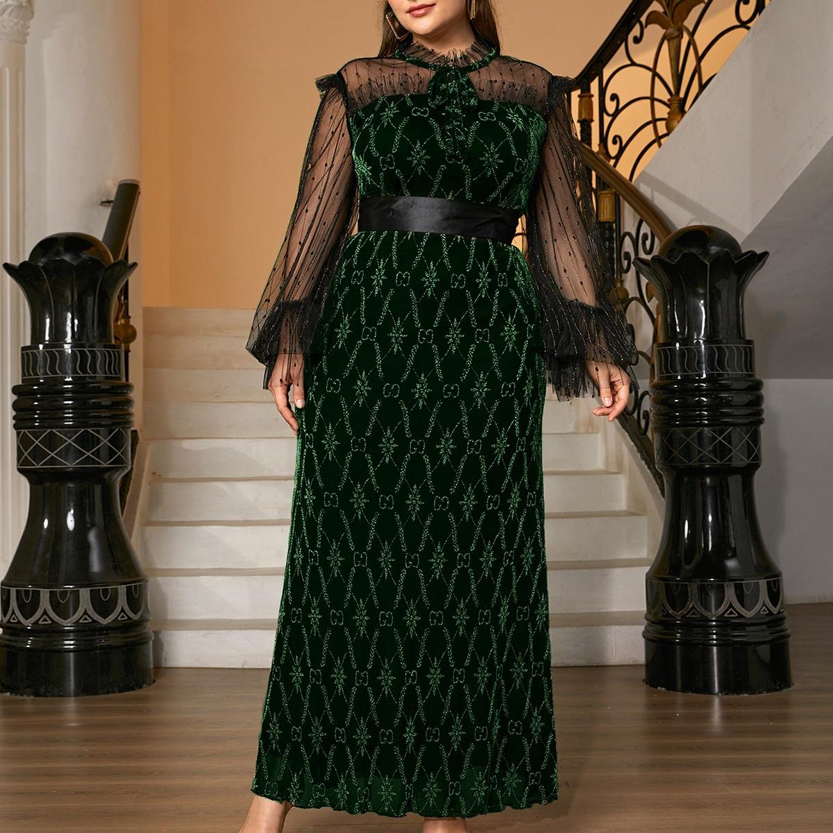 Платье для выпускного размера плюс от SHEIN