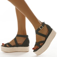 Minimalist Espadrille Wedge Sandals