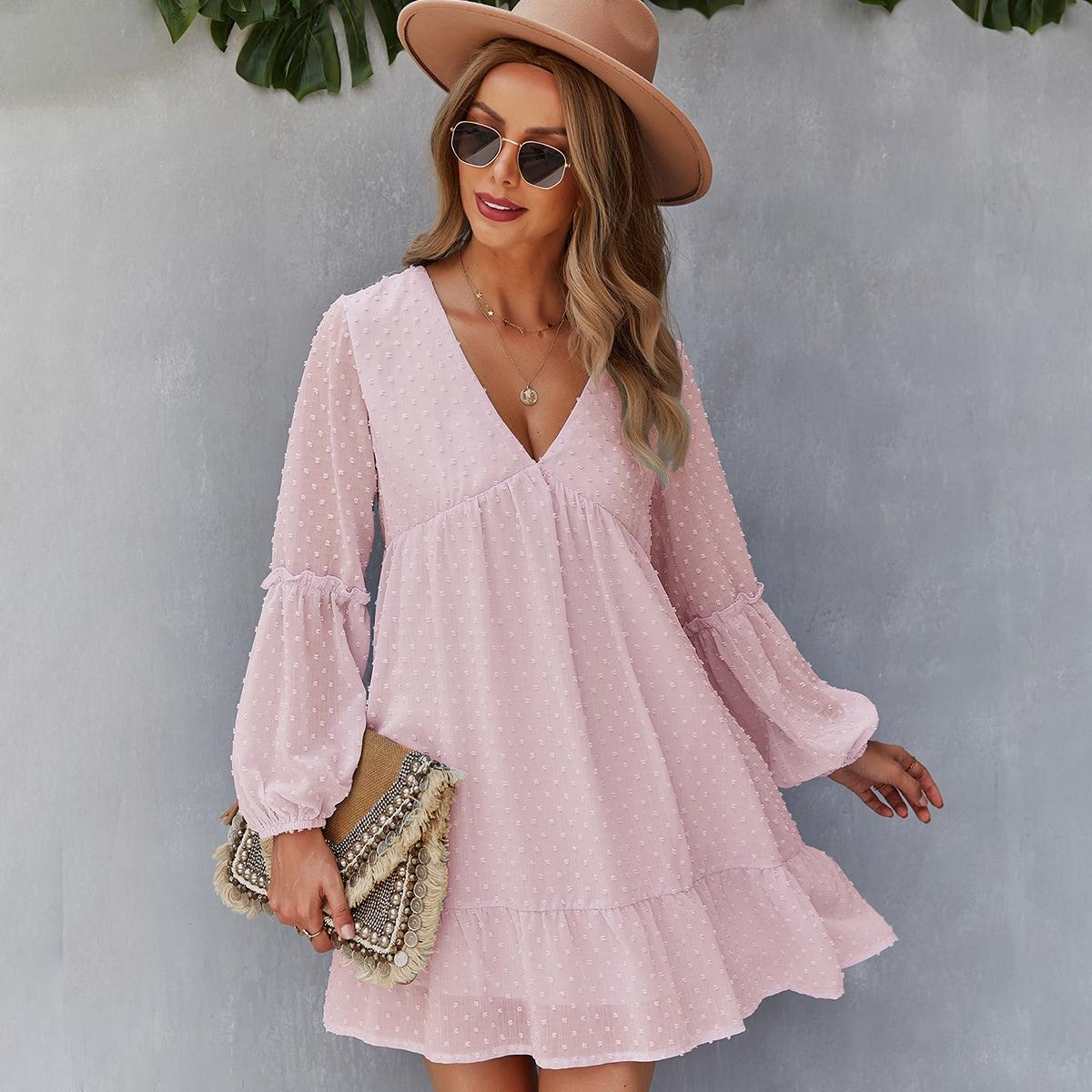 Платье в горошек SheIn swdress23210601305