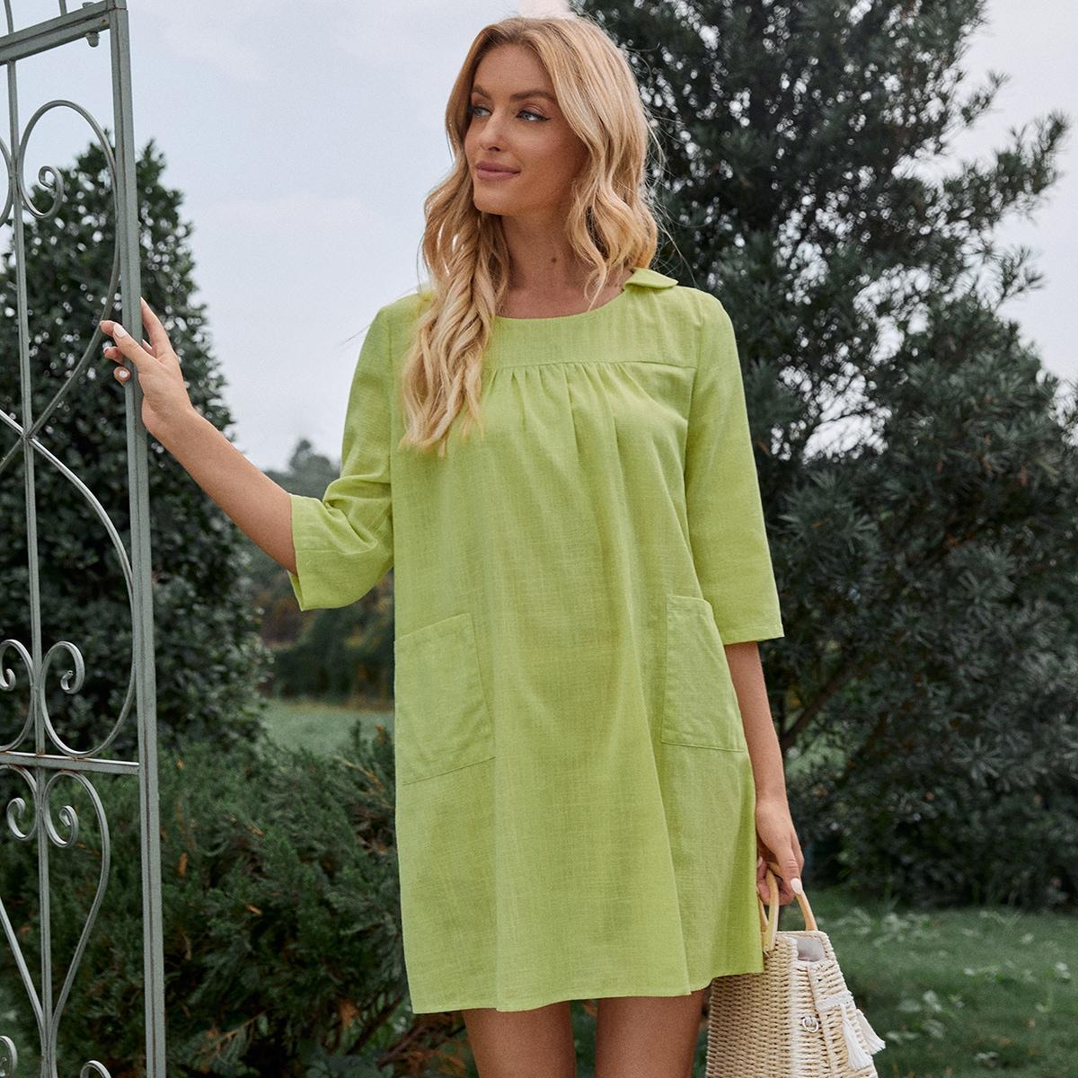 Платье двойными карманами SheIn swdress44210427074