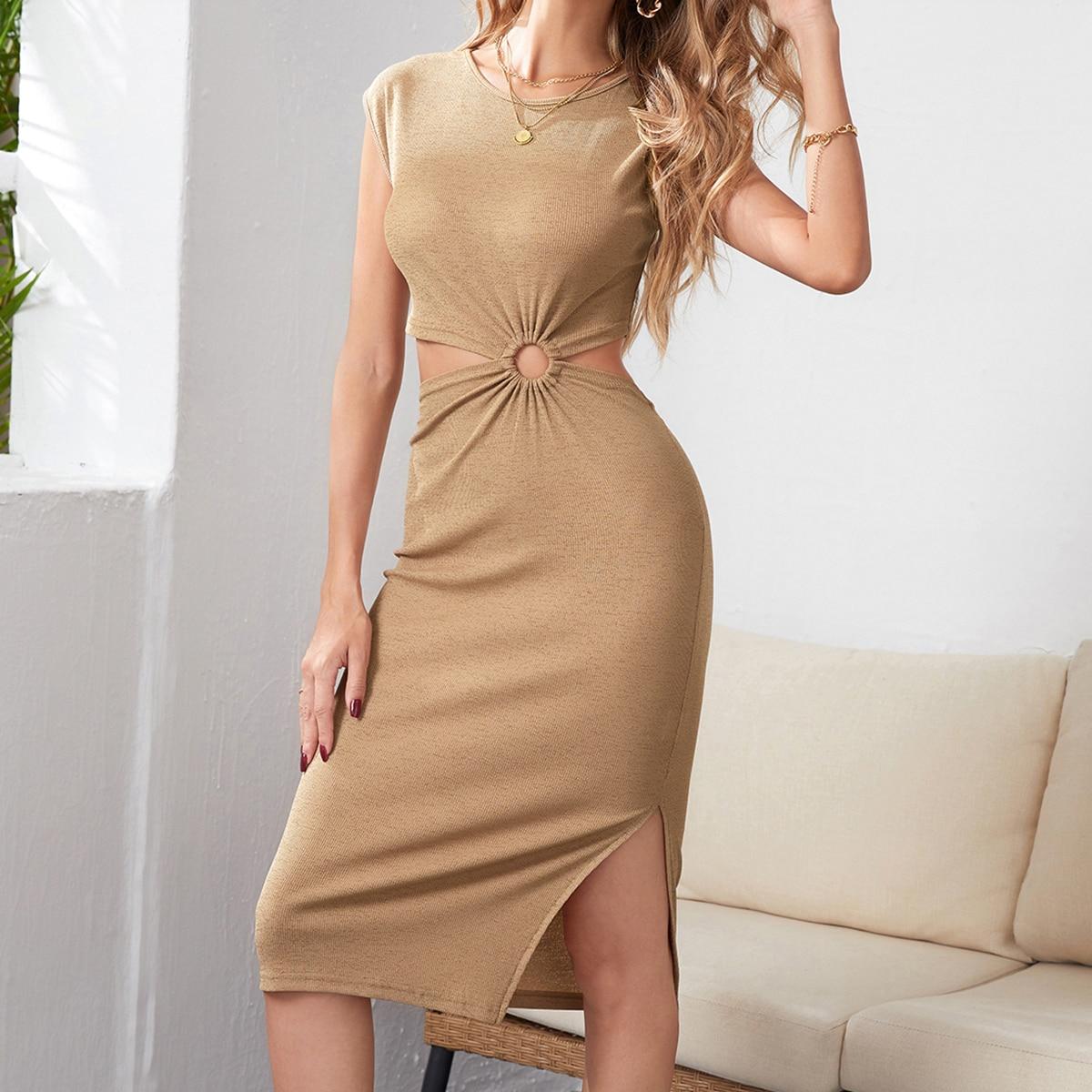 Платье с разрезом с разрезом SheIn swdress25210527463