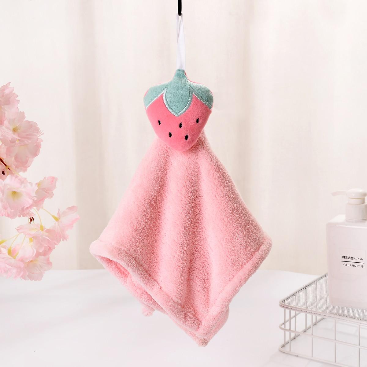 1Pc Strawberry Hand Towel