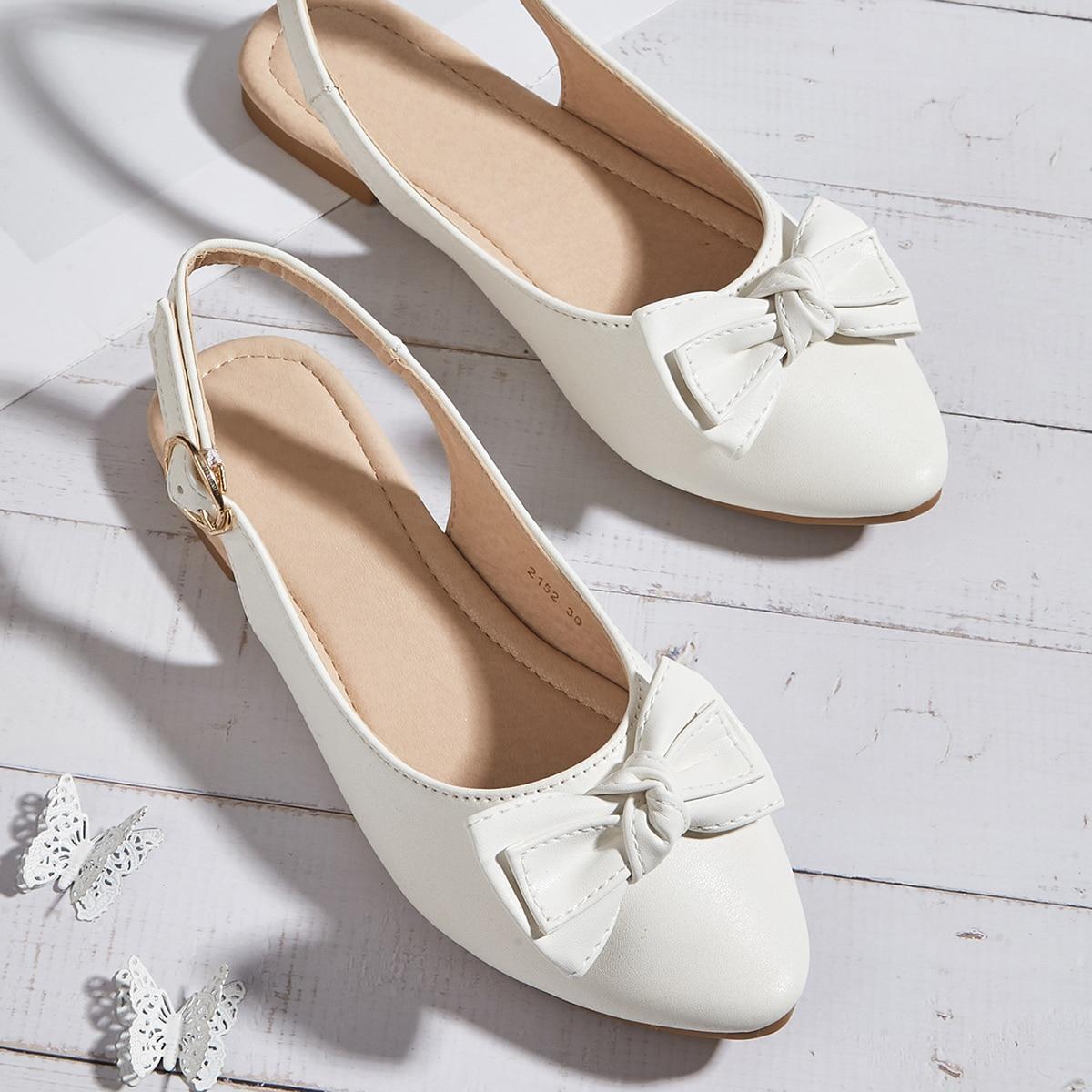 Туфли с бантом для девочек SheIn sK210618195657479