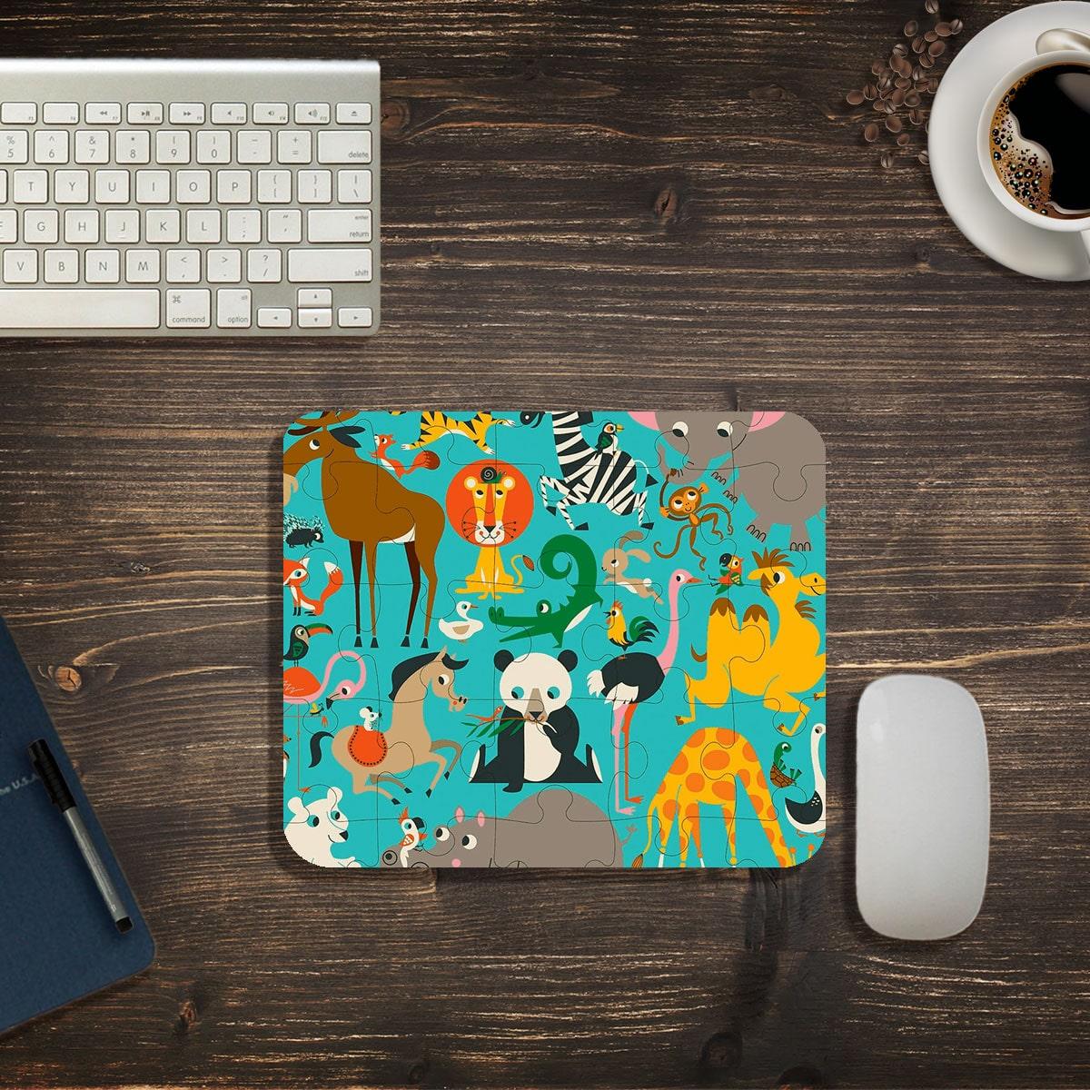 Коврик для мыши с рисунком животных