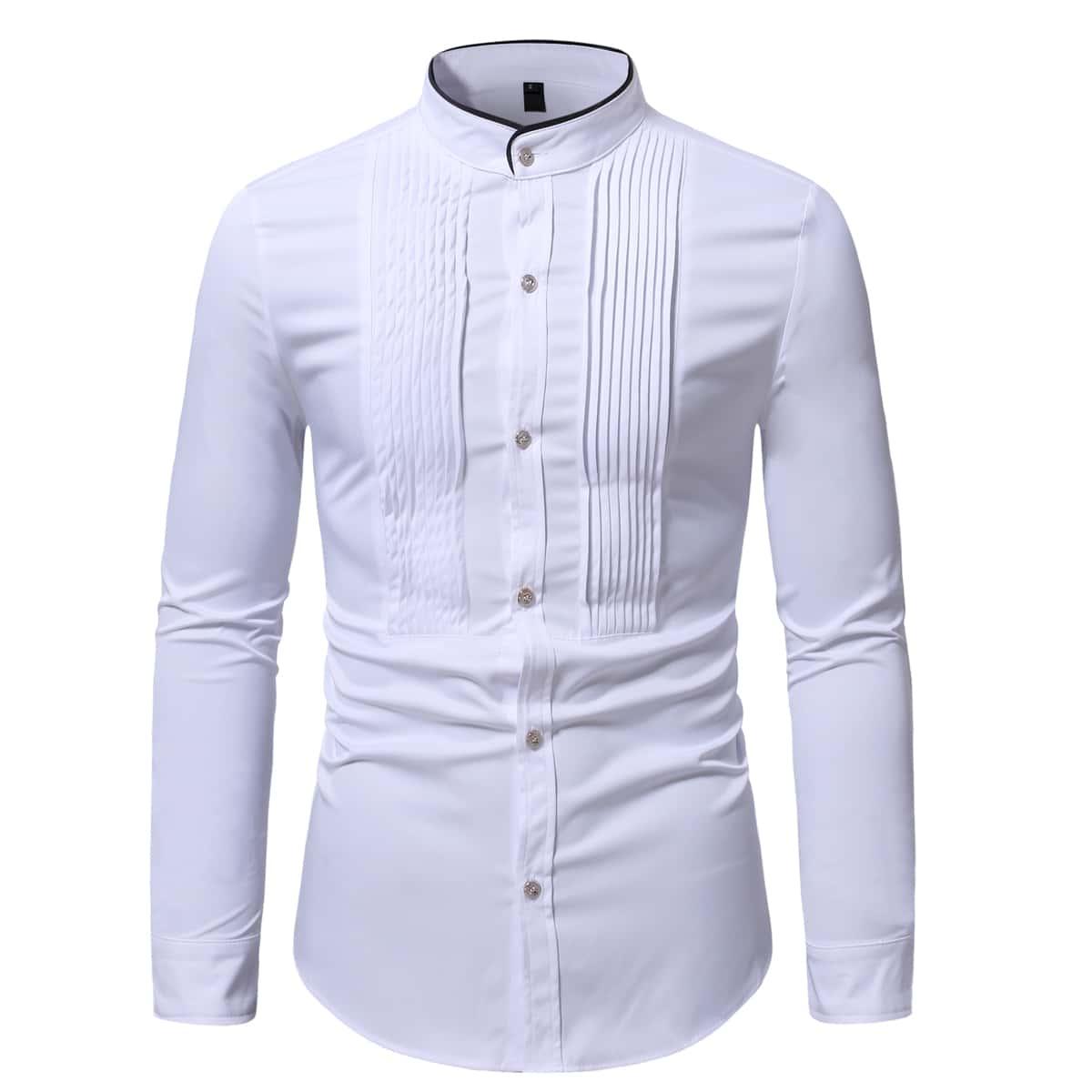 Мужская рубашка с изогнутым краем