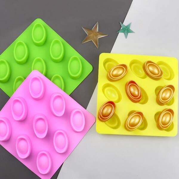 1pc Random Color 9 Grid Chocolate Mold, Multicolor