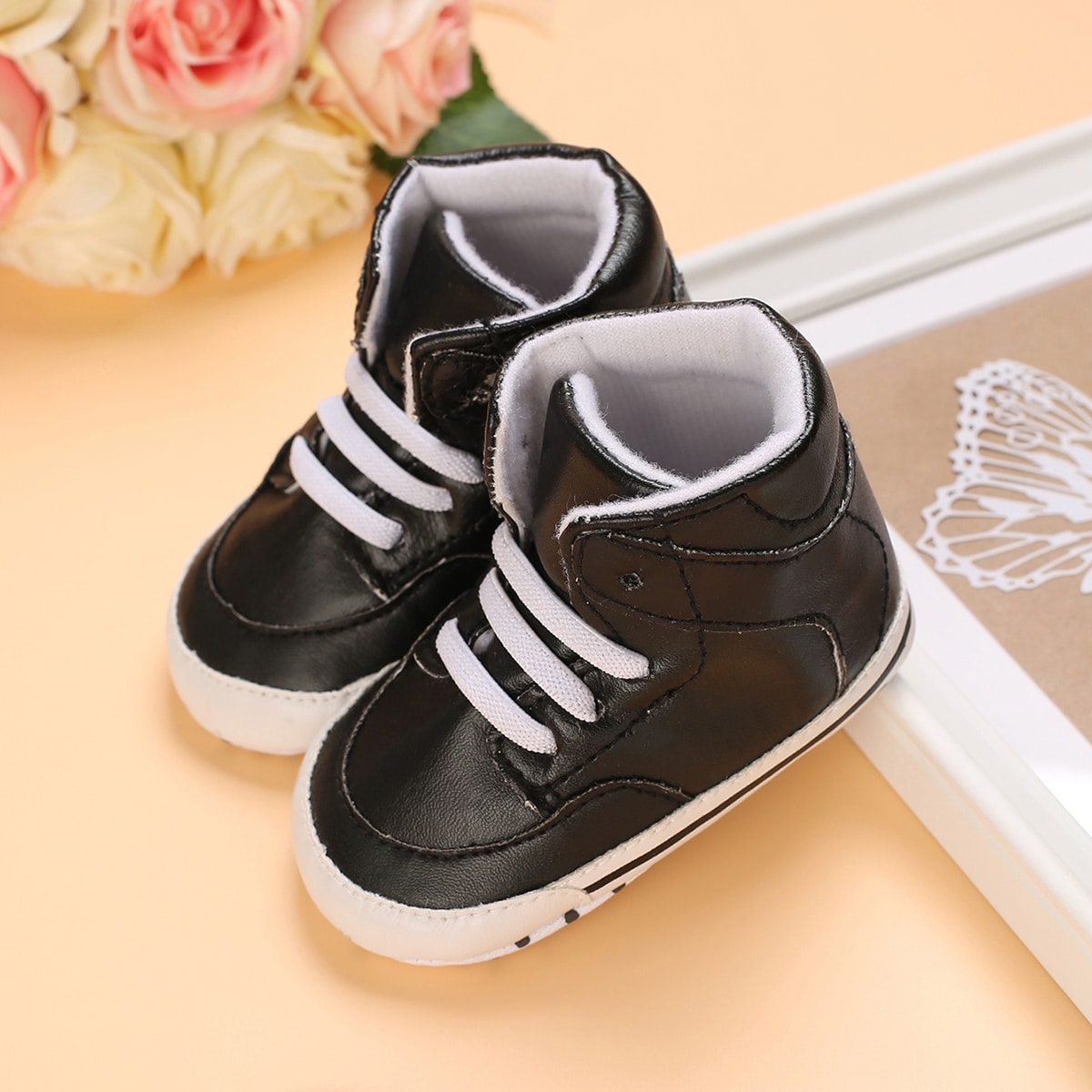 Baby High Top Lace-up Sneakers, SHEIN  - buy with discount