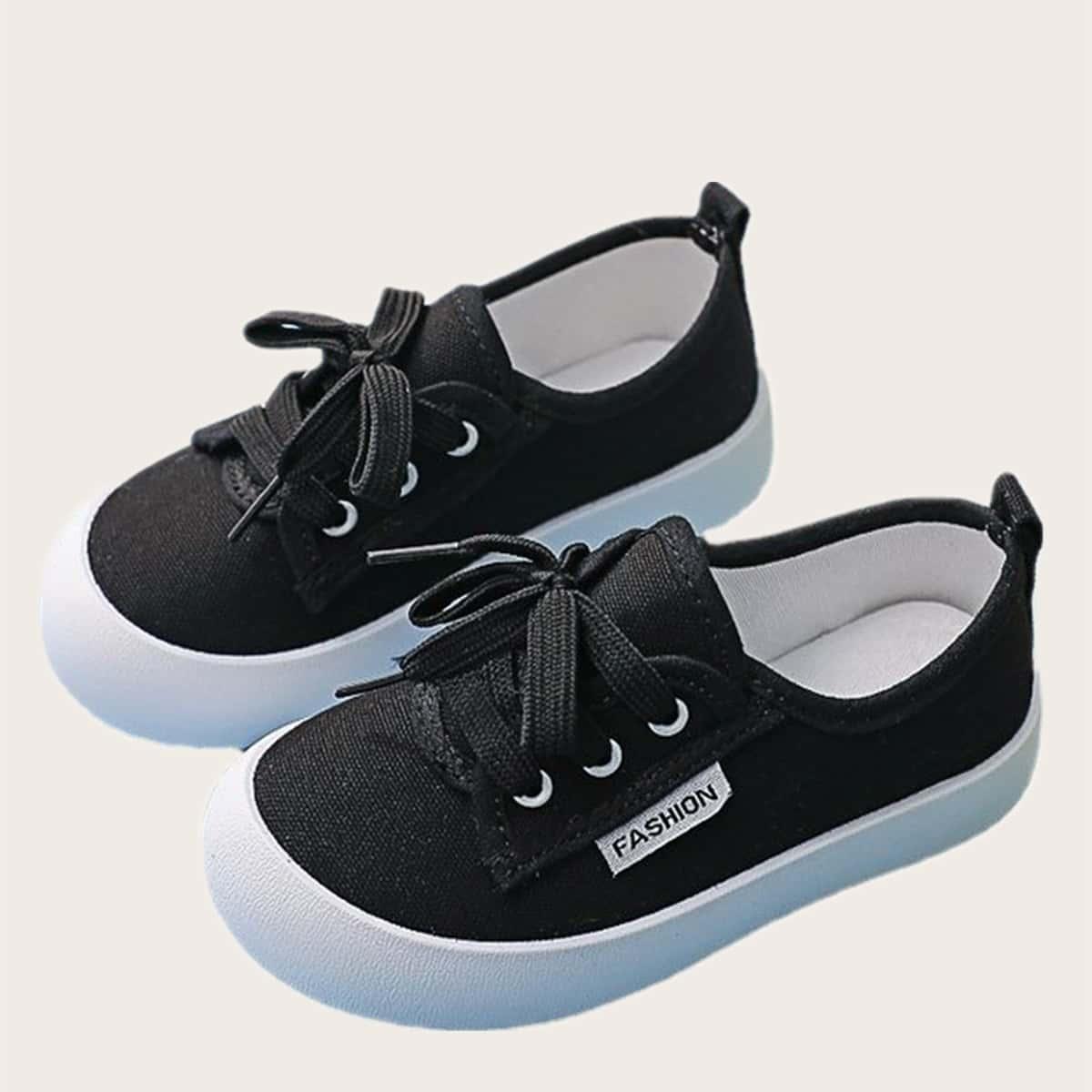 Минималистичная холщовая обувь для девочек от SHEIN