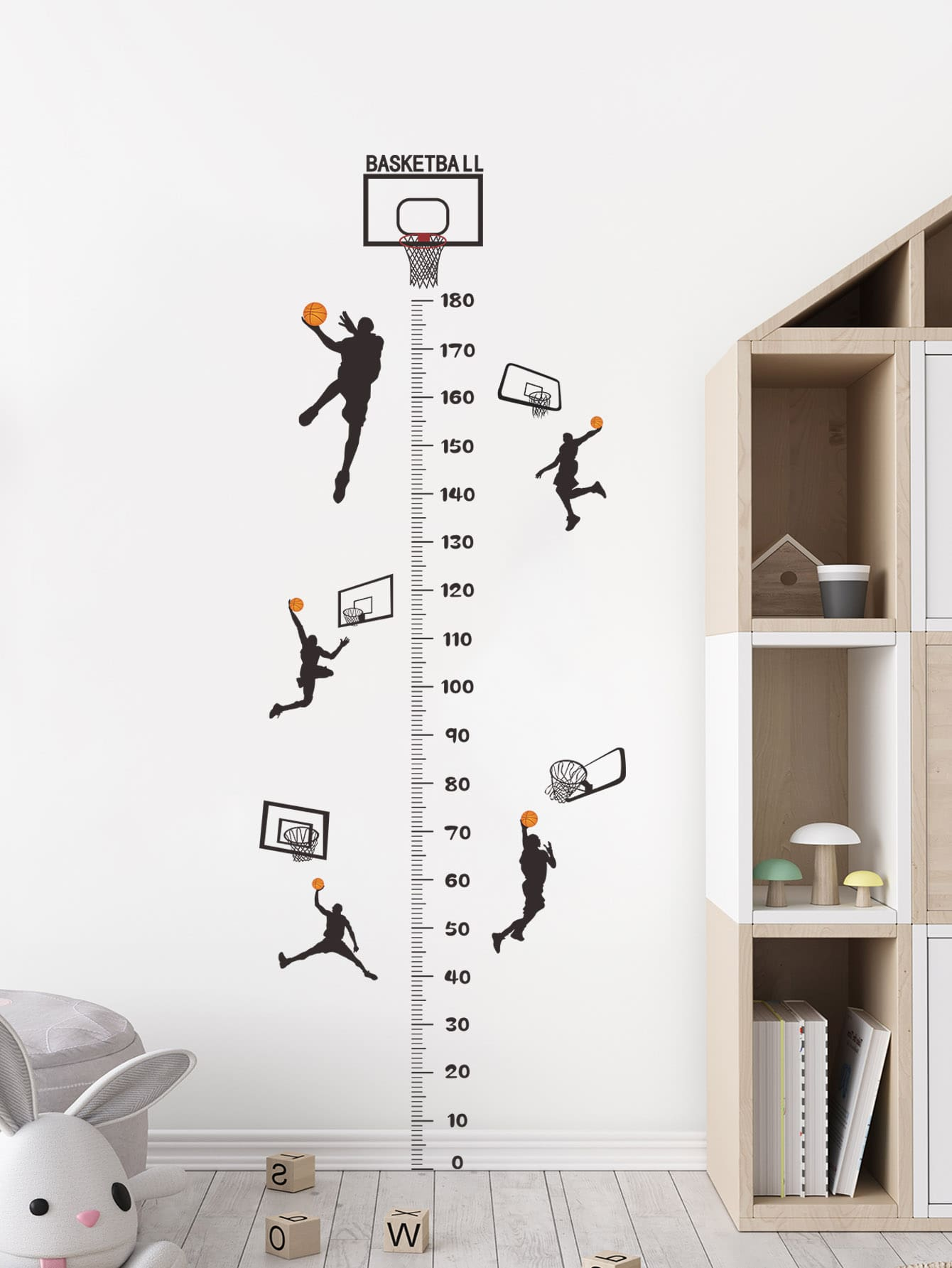 Basketball Boy Print Kids Wall Sticker