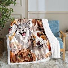 Kids Dog Print Blanket