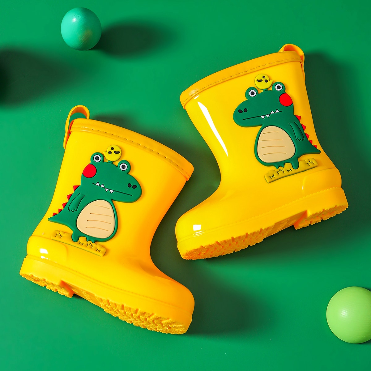 Резиновые сапоги с мультипликационным декором для мальчиков SheIn sk2106227996743378