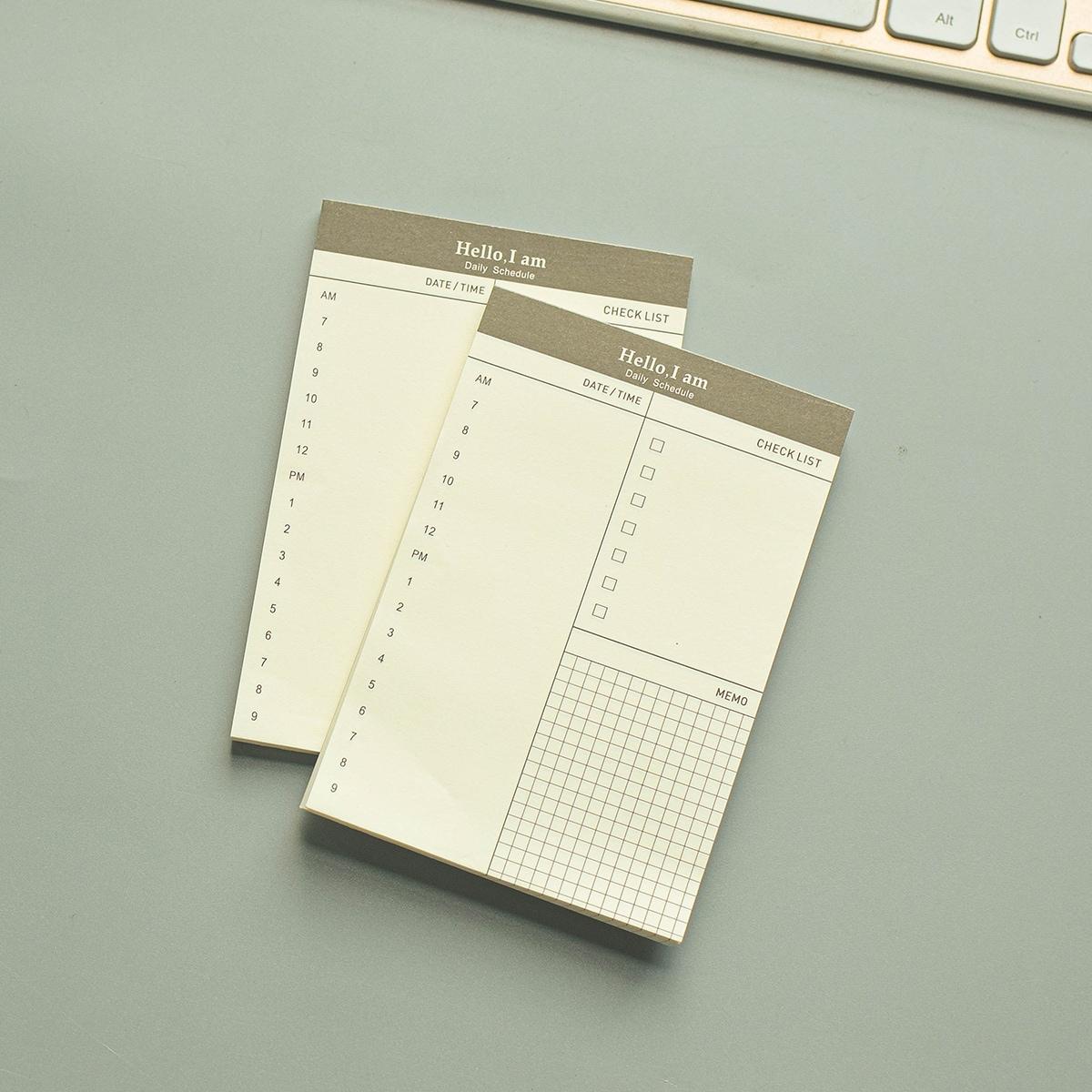1pc Schedule Memo Pad