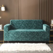 Flower Embossed Stretchy Sofa Cover