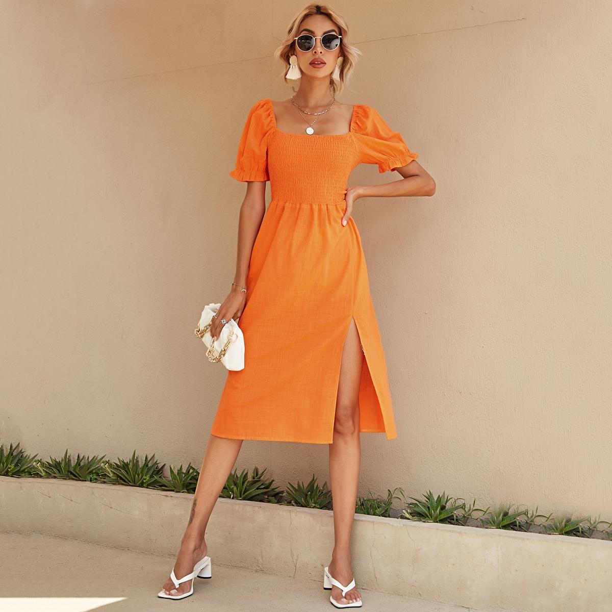 Платье с воланами на рукавах SheIn swdress44210521092