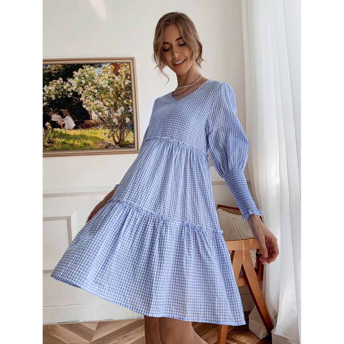 Платье в клетку SheIn swdress02210519792