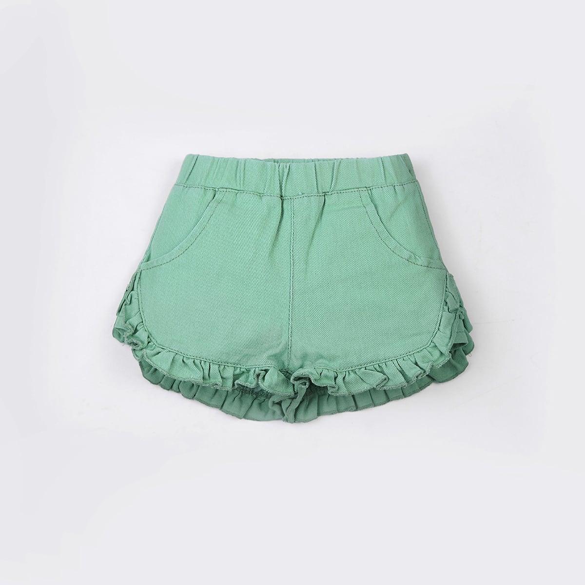 Джинсовые шорты с оборками для девочек от SHEIN