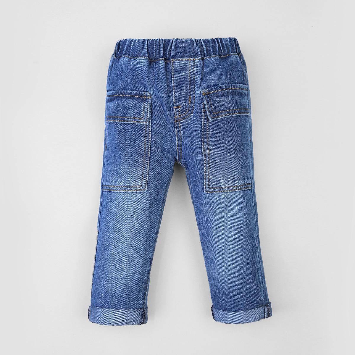 для мальчиков стиранный с карманом джинсовый