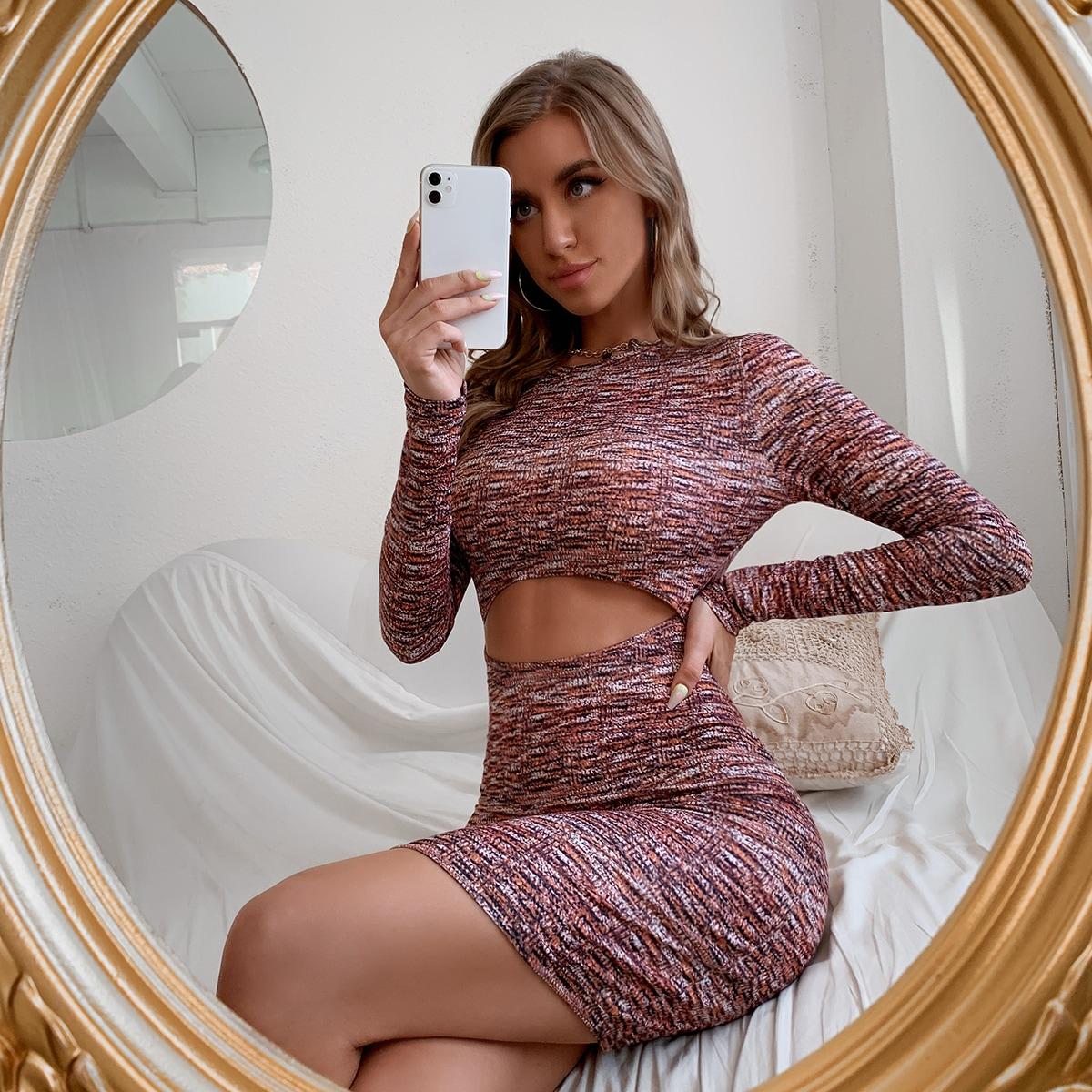 Вязаное облегающее платье SheIn swdress25210607645