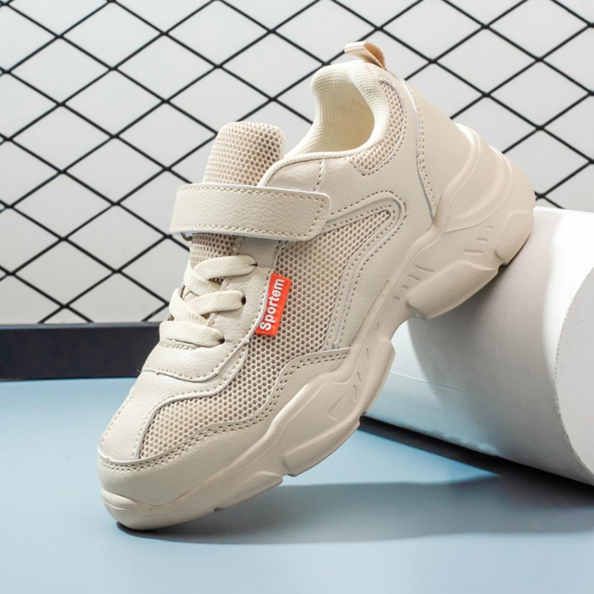 Минималистичные кроссовки для девочек на липучке от SHEIN