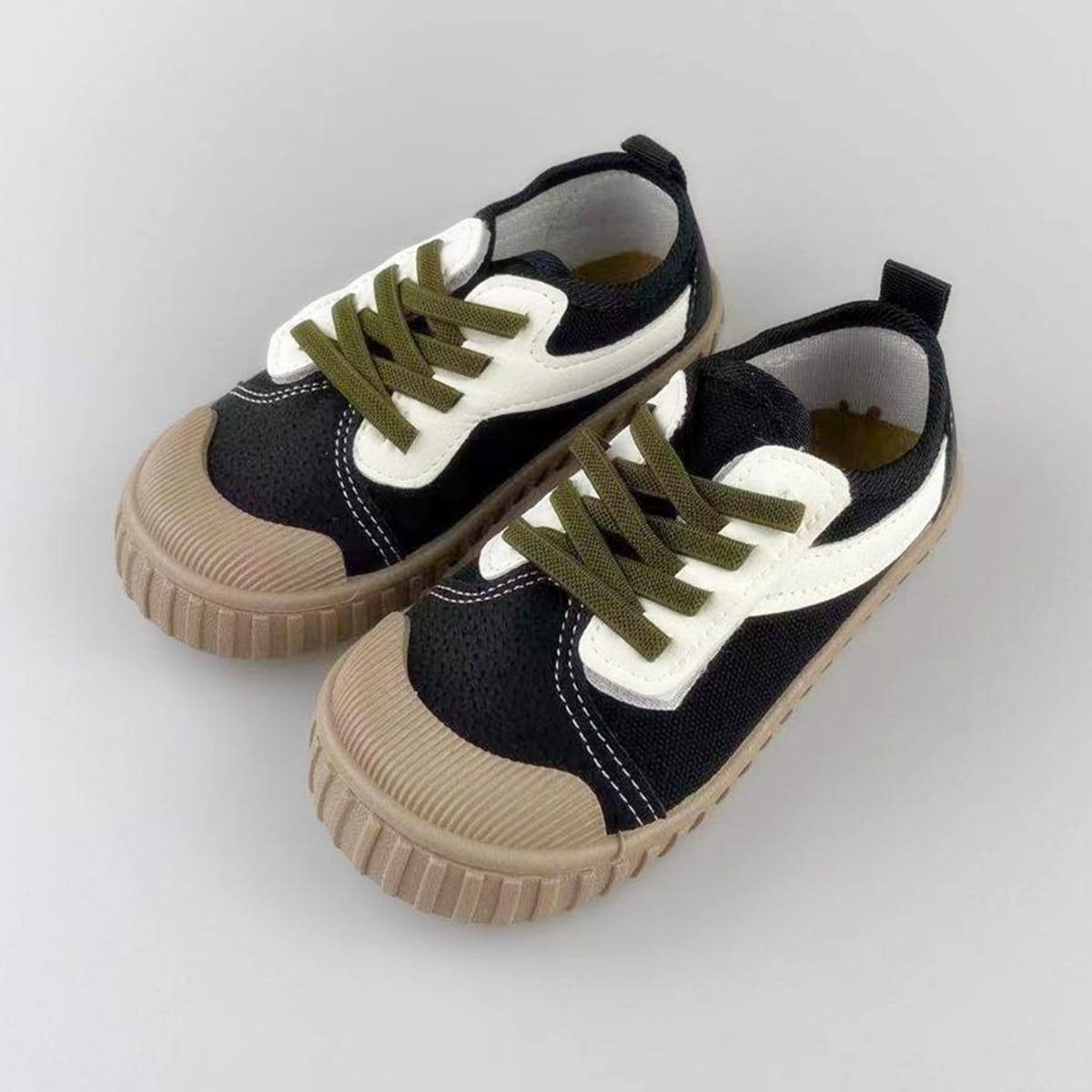 Контрастная холщовая обувь для мальчиков от SHEIN