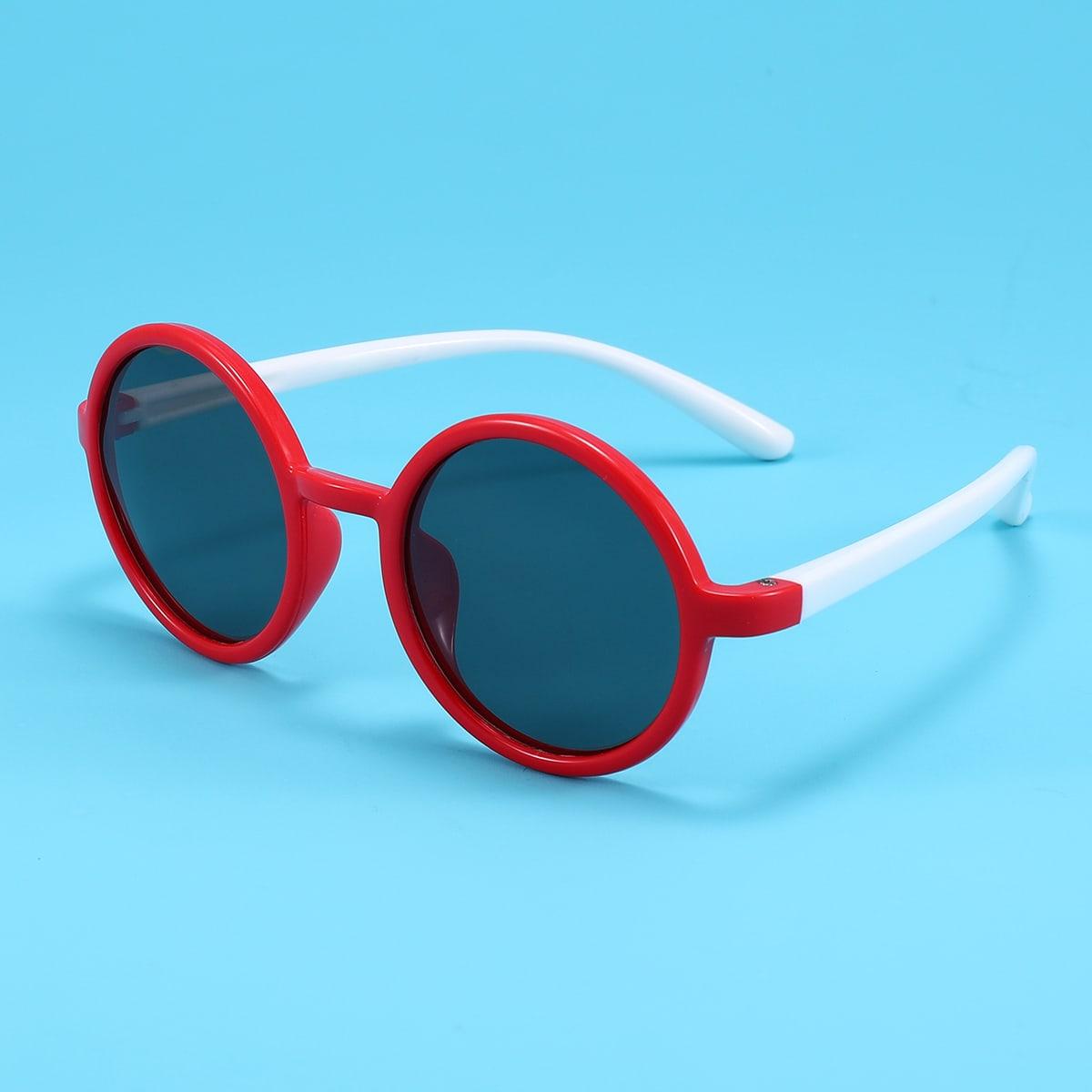 Gafas de sol con montura redonda para niños pequeños