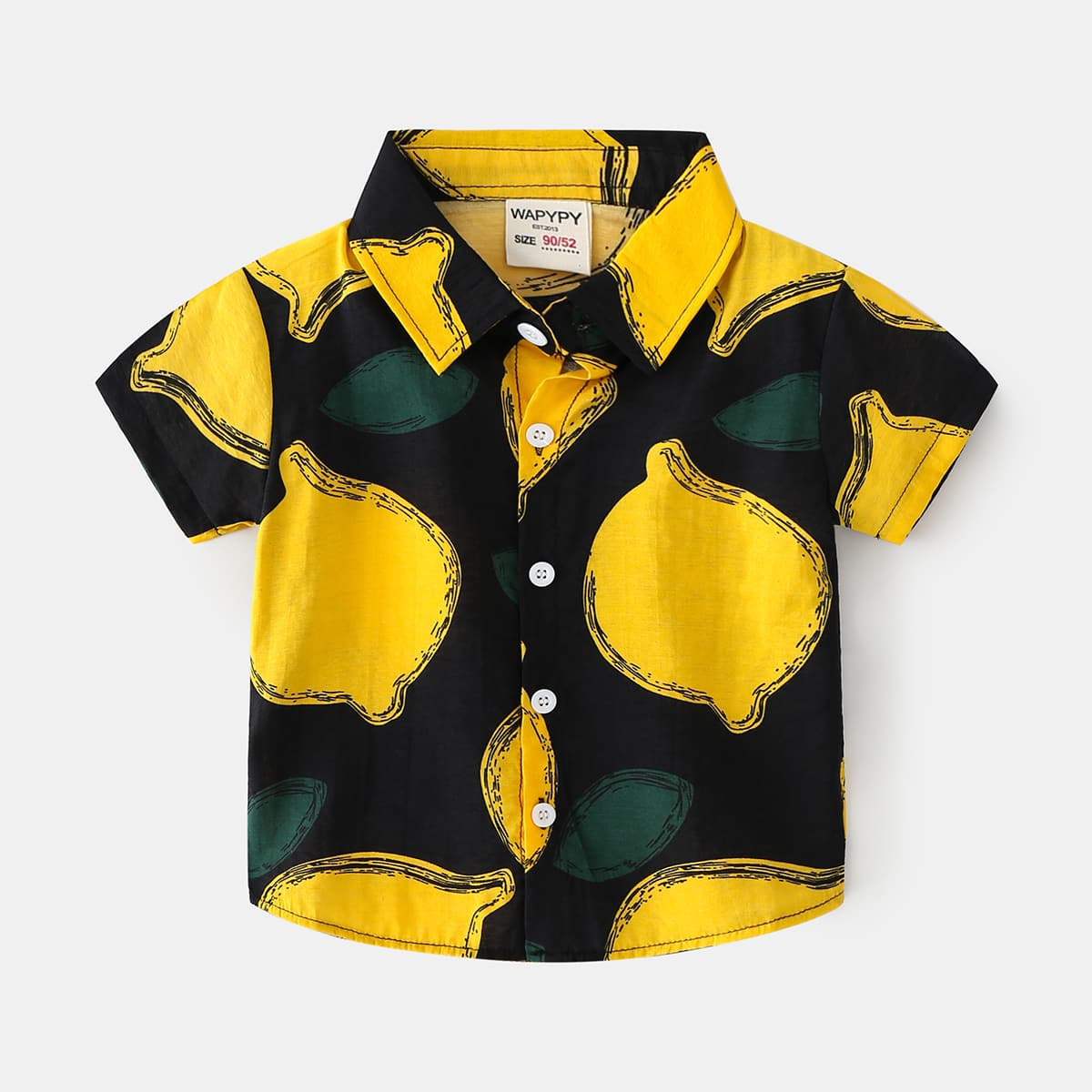 для мальчиков Рубашка с принтом лимона