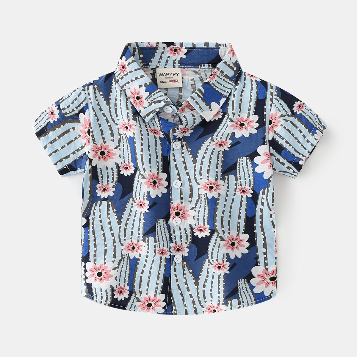 для мальчиков Рубашка с принтом кактуса