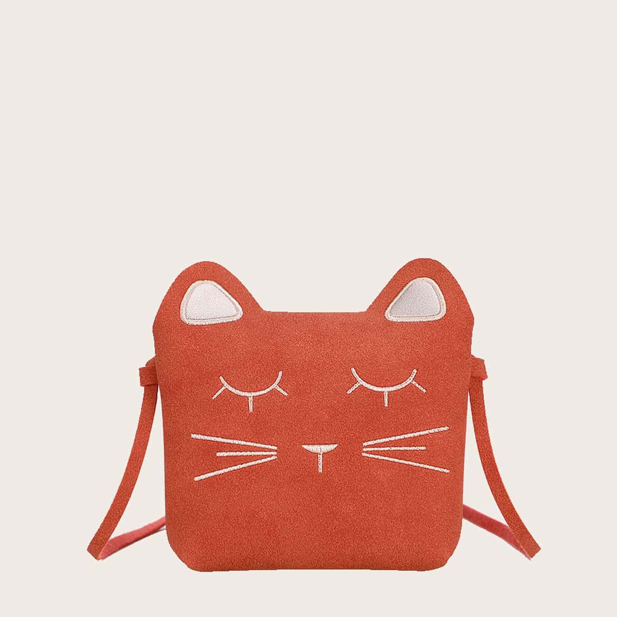 для девочек Сумка через плечо с узором кошки SheIn sk2106223553033421