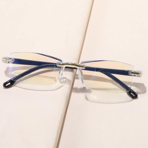 Anti-Blue Light Rimless Eyeglasses