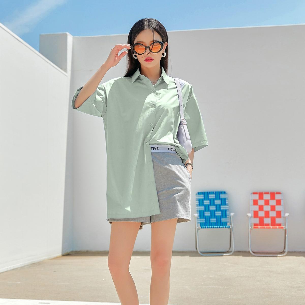 Оригинальная блуза-туника SheIn swblouse30210615297