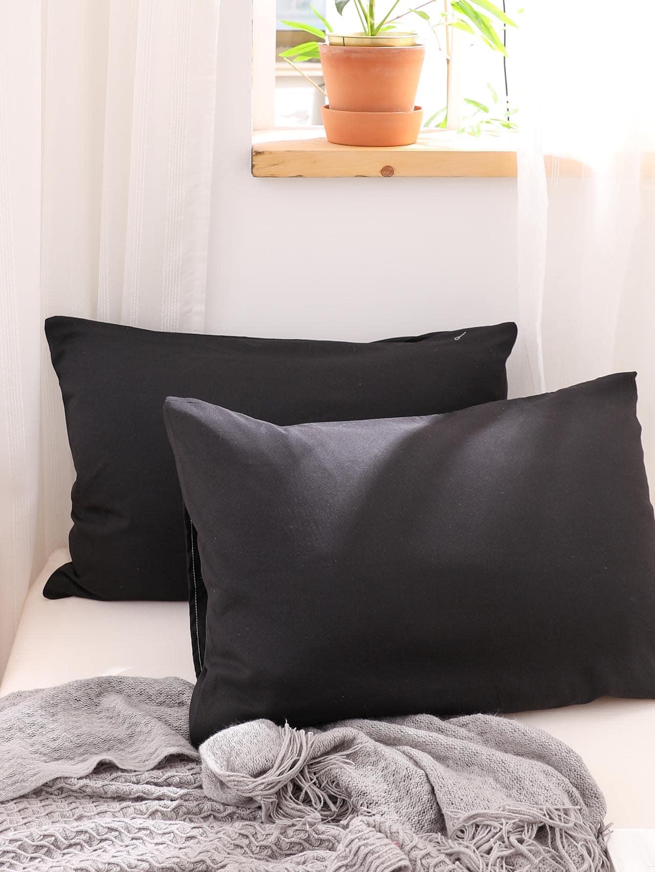 1Pair Plain Pillowcase Without Filler