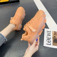 Lace Up Front Mesh Panel Chunky Sneakers