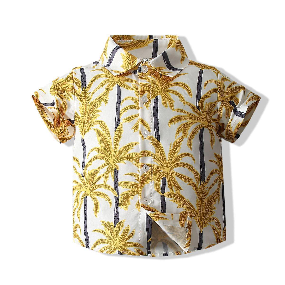 Рубашка с тропическим принтом для мальчиков