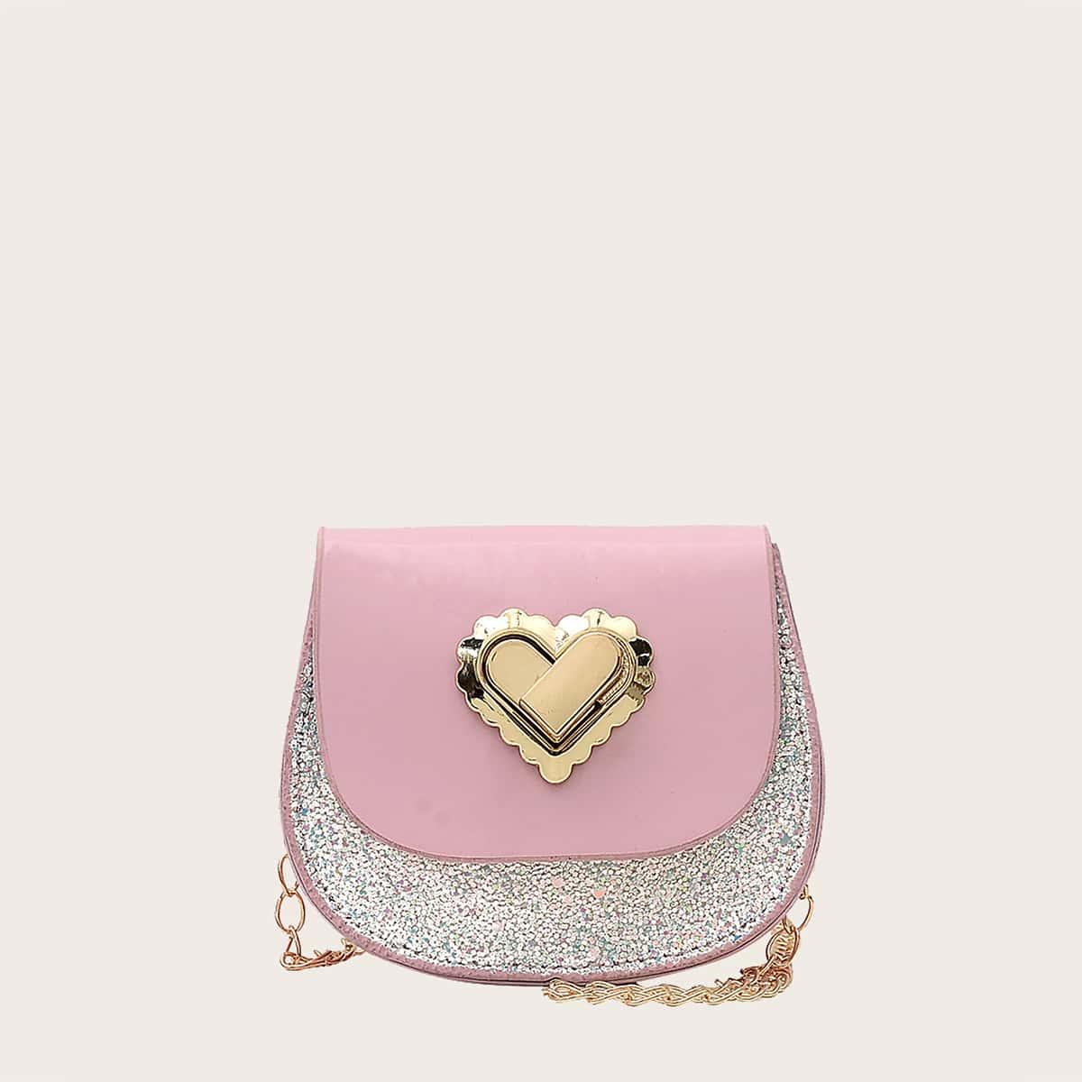 Сумка-седло с сердечком для девочек SheIn skbag18210423088