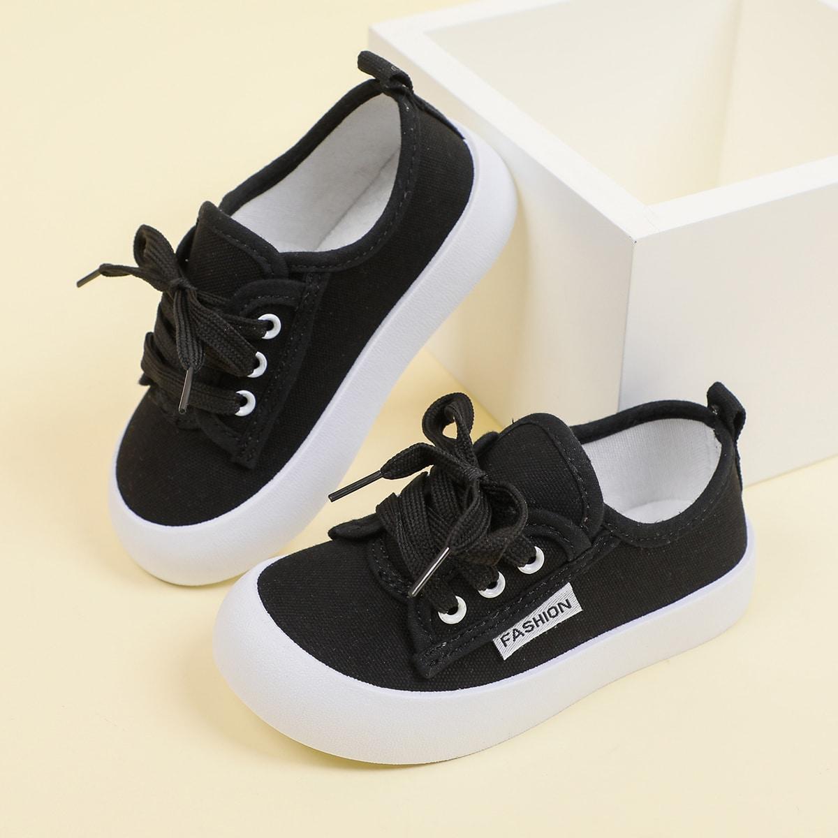 для мальчиков Холщовые туфли со шнурком от SHEIN