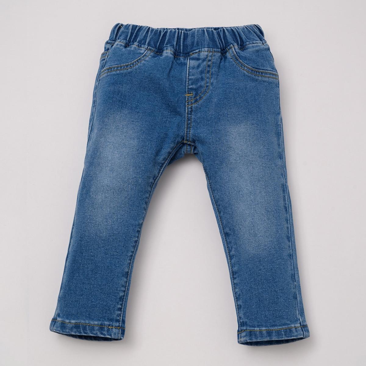 Прямые джинсовые брюки с карманом для мальчиков от SHEIN