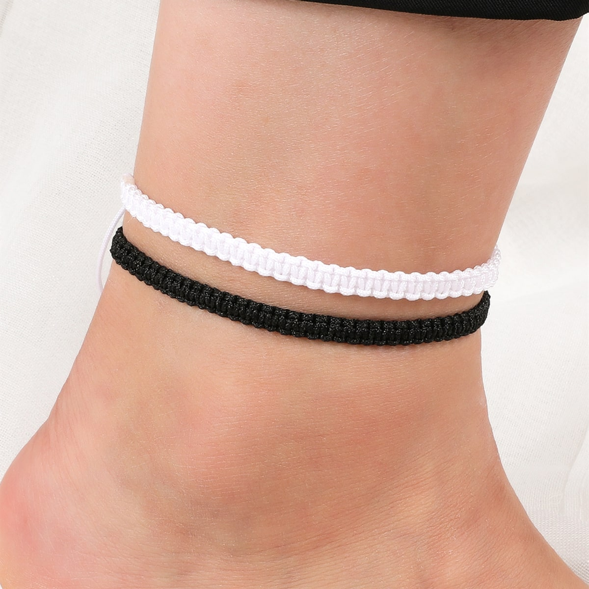 Simple Braided Anklet, SHEIN  - buy with discount