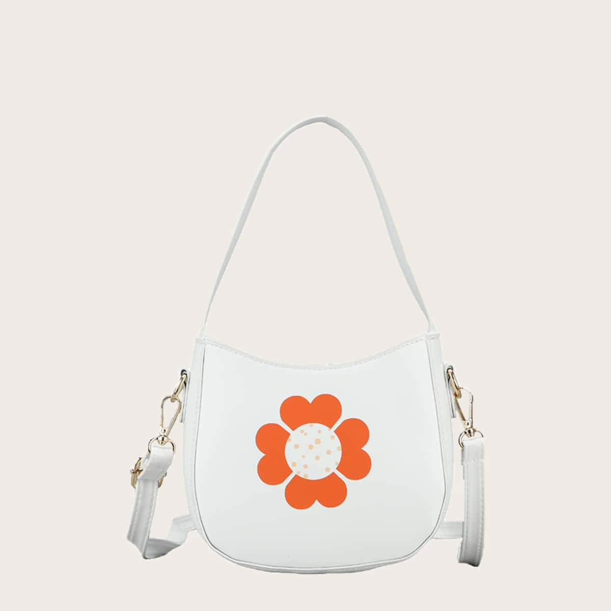 Girls Floral Graphic Shoulder Bag, SHEIN  - buy with discount