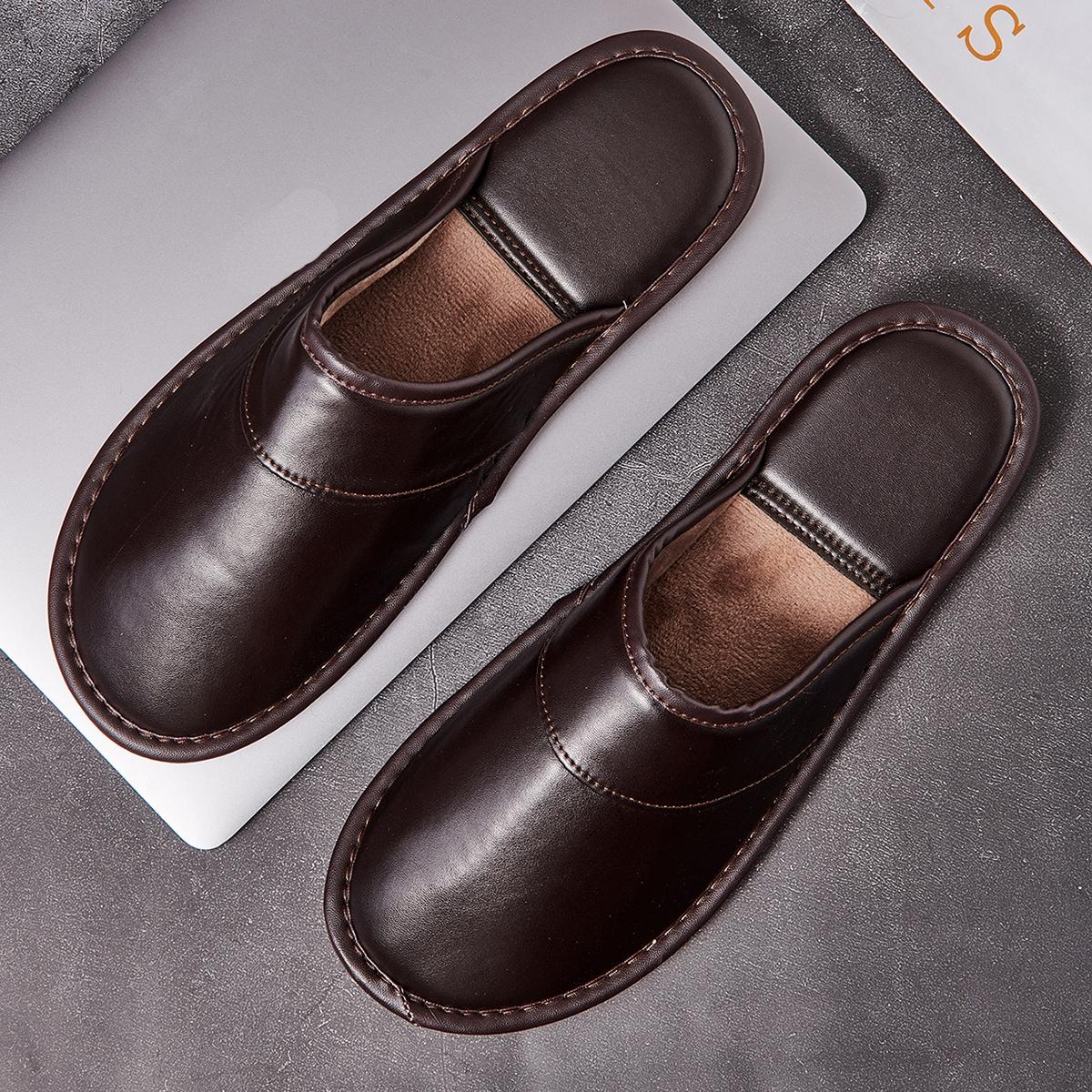 Мужской Тапочки для спальни минималистичный от SHEIN