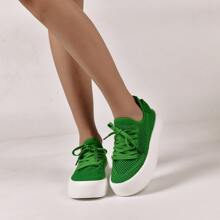 Lace-up Decor Sneakers
