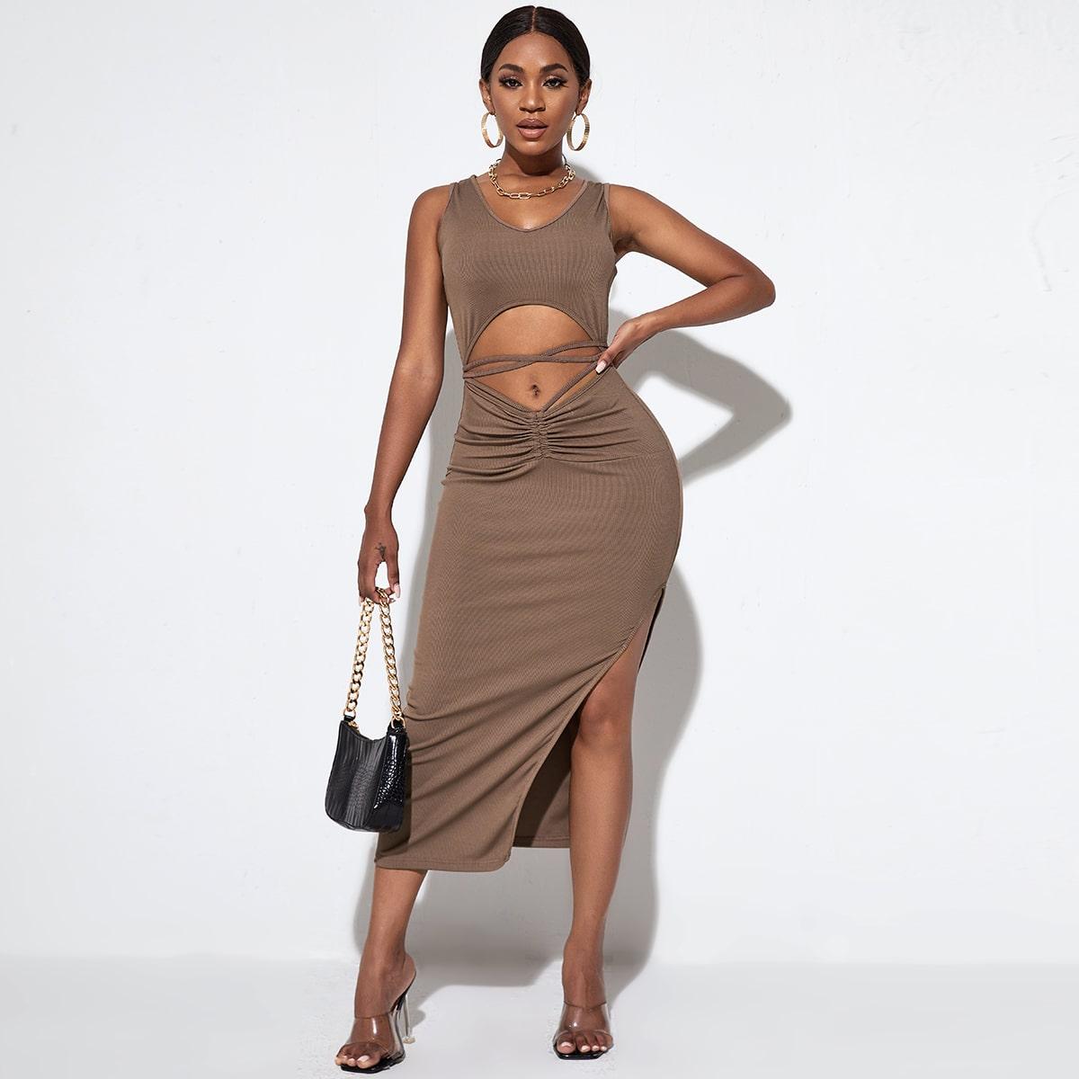 Платье с разрезом высоким разрезом SheIn swdress44210430678