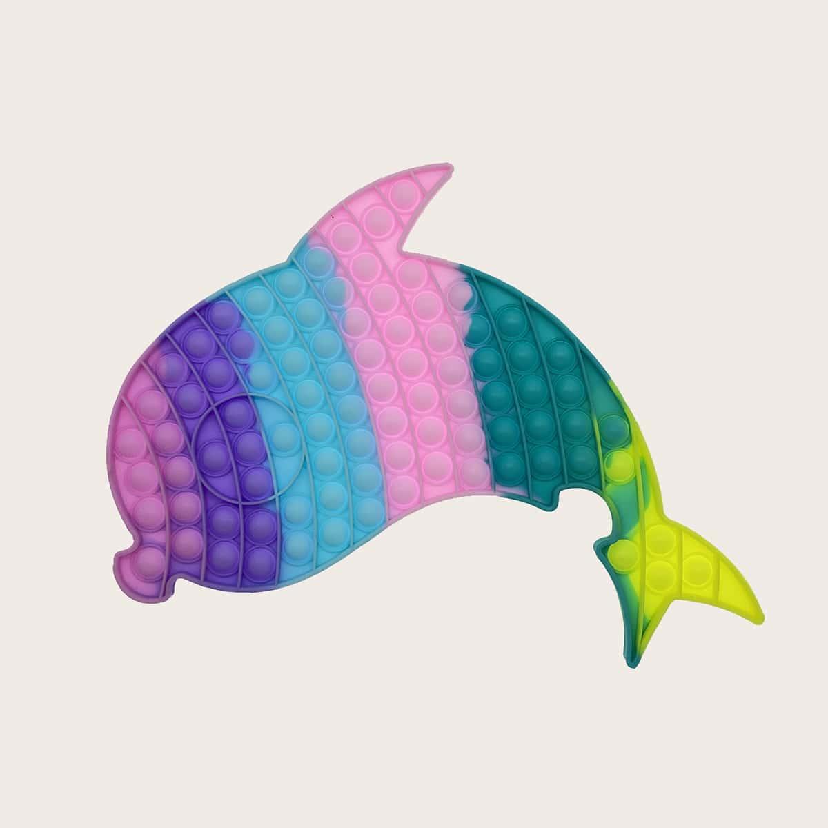 1 pièce Bulle de poussée pop design dauphin