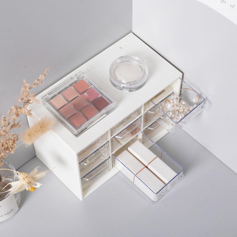 1pc Multi-grid Storage Box, White