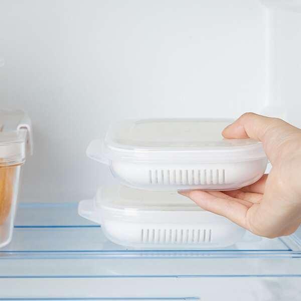 1pc Food Sealed Fresh Box, White